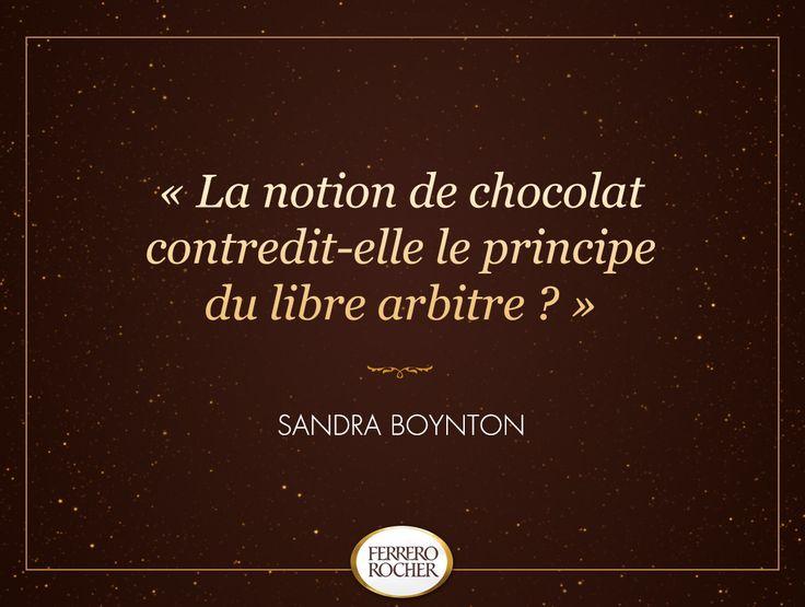 "☆Citation Divine☆ ""La notion de chocolat contredit-elle le principe du libre arbitre ?"" (Sandra Boynton)"