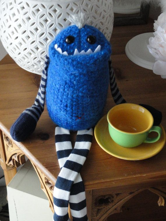 Adopt a Smug Monster- plush upcycled from sweaters. $40.00, via Etsy.