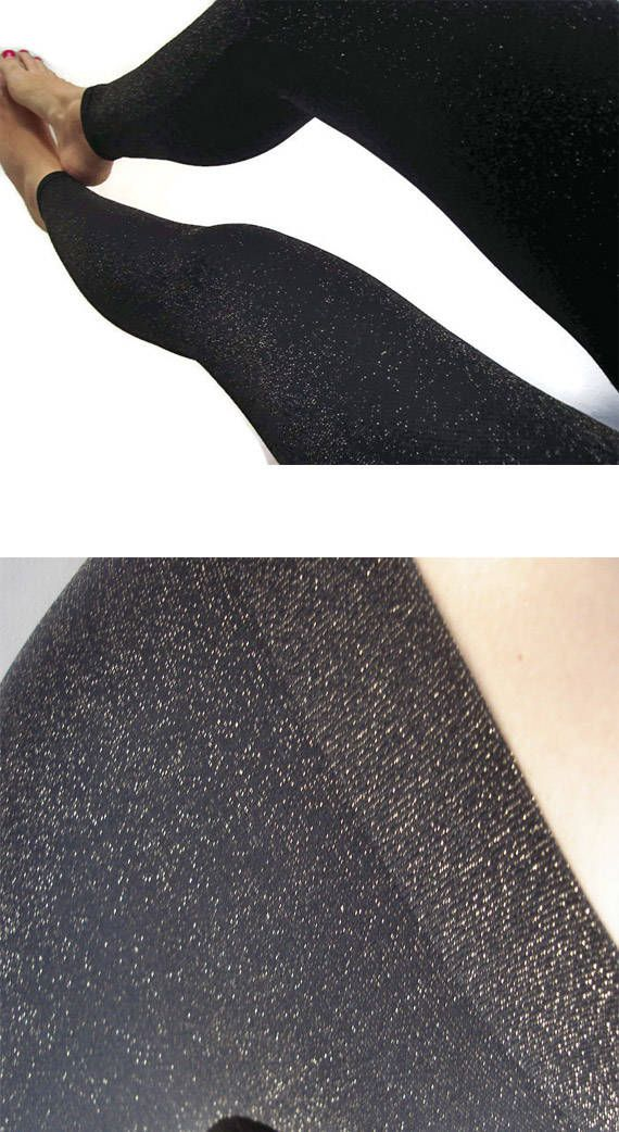 445e061635d16 Glitter Leggings Women Sparkle tights Glitter tights Gold Sparkle leggings  women Gothic Black Gold l