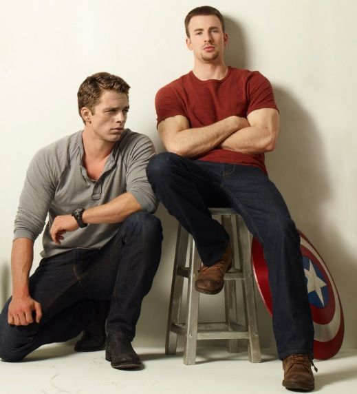 Sebastian Stan and Chris Evans.to much for one picture