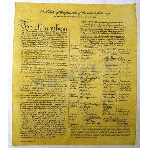 November 15, 1777 -  The second Continental Congress adopted the Articles of Confederation and Perpetual Union.