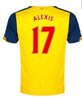 arsenal magliette da calcio 2014 2015 alexis 17 trasferta arsenalhtml