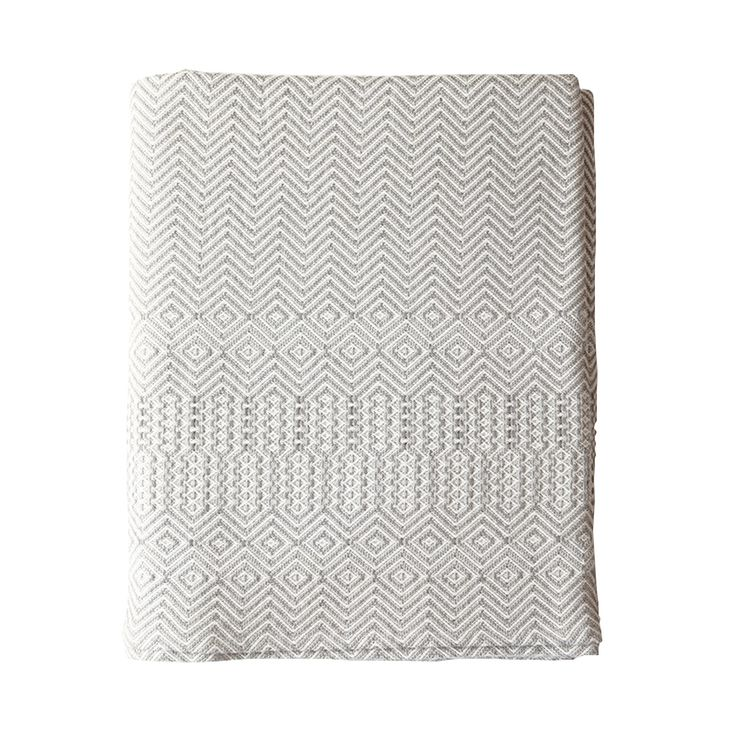 Bakuba Throw – Khaki Grey