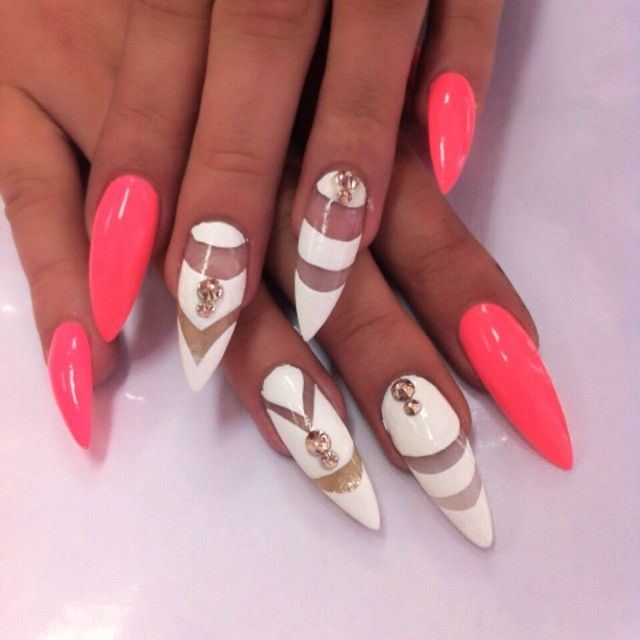 142 best stiletto nails images on pinterest nail arts nail not the stiletto shape but the color and design i like prinsesfo Image collections