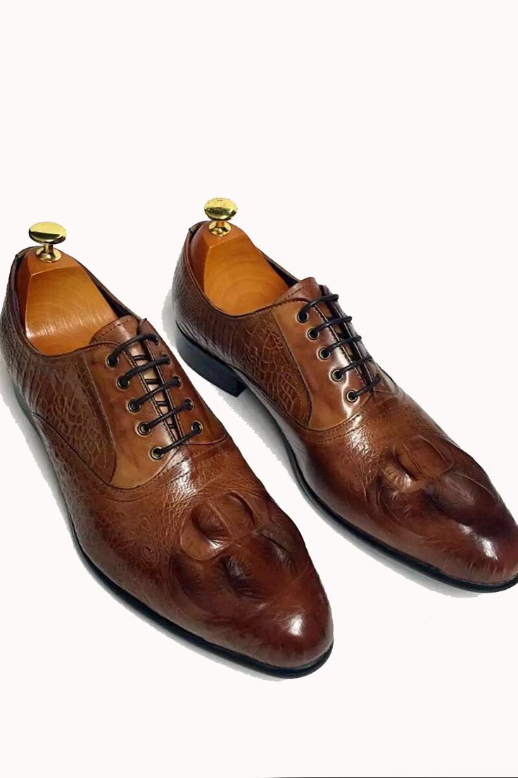 brown formal leather shoes for men. See more. TEMADOU- Italia Leather  Lace-up Shoes