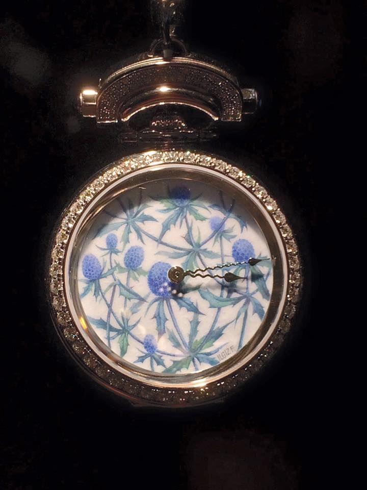 Ilgiz F for Bovet 1822. Amadeo Fleurier 39 mm Blue flowers