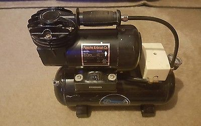 Awesome Paasche Airbrush Co. Model D3000 1/8 hp 1750 rpm compressor + tank