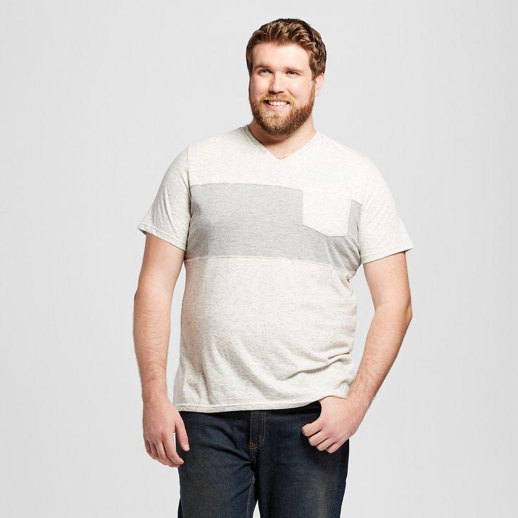 Men's Big & Tall V-Neck T-Shirt Cream Xxxlt - Mossimo Supply Co., Size: Xxxl Tall, Light Cream