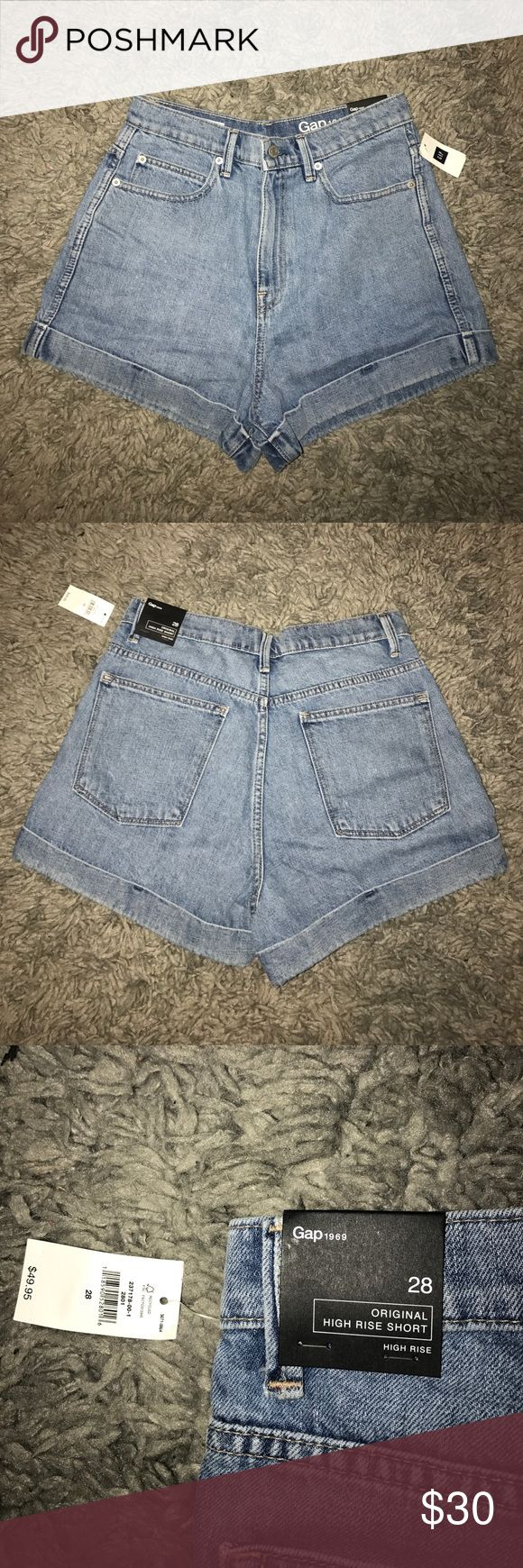 GAP HIGH RISE SHORTS similar to the american apparels popular high rise shorts - brand new with tags size 28 (6) GAP Shorts Jean Shorts