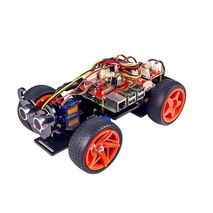 SunFounder PiCar-S Raspberry Pi Smart Robot Car Kit Based Graphical Visual Programming Language Elec