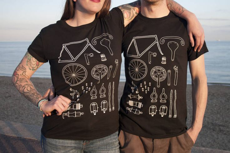 unisex cycling t shirt by angela chick   notonthehighstreet.com
