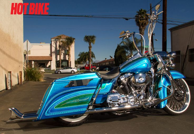 Armando Began With A 2005 Harley Davidson Road King Extending The Front And Rear Fenders To Match The Fiberglass Extended Bags Custom Baggers Road King Bagger