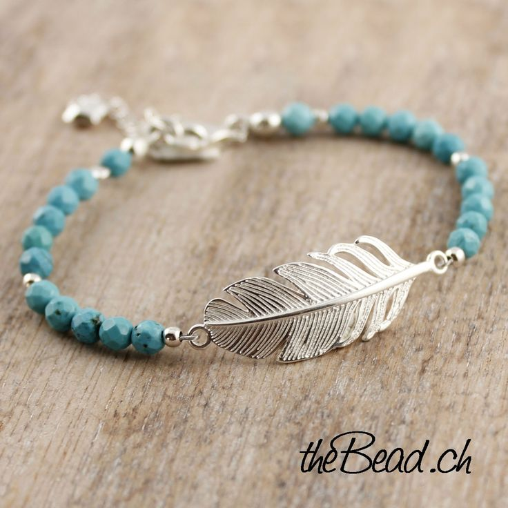 925 Sterling Silber Feder Armband von theBead