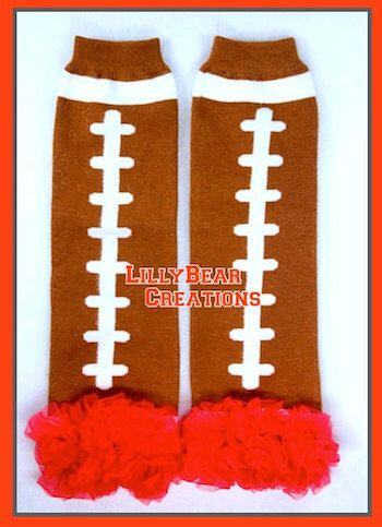 Red Football Leg Warmers, Texans, Falcons, Patriots, Bills, Giants, Titans, Ohio St, SMU, Arizona, Ole Miss, Rutgers, Badgers, Georgia, Utah by LillyBearCreations on Etsy https://www.etsy.com/listing/214239681/red-football-leg-warmers-texans-falcons