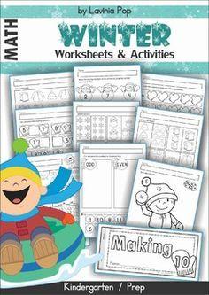 FREE Kindergarten Winter Math and Literacy Mega Bundle Sampler.
