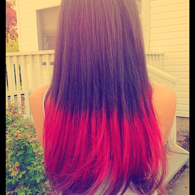 dip dye hair purple and pink - photo #9