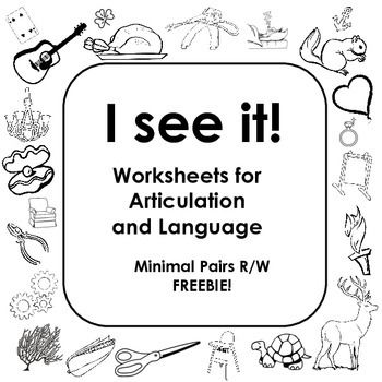FREE Minimal Pair R/W coloring and I Spy sheet! Ideas for