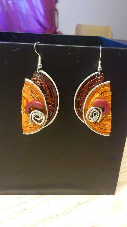 boucles d'oreilles avec des capsules Nespresso par onlywishh, €8.00