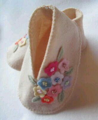 Cute Floral Baby Slippers