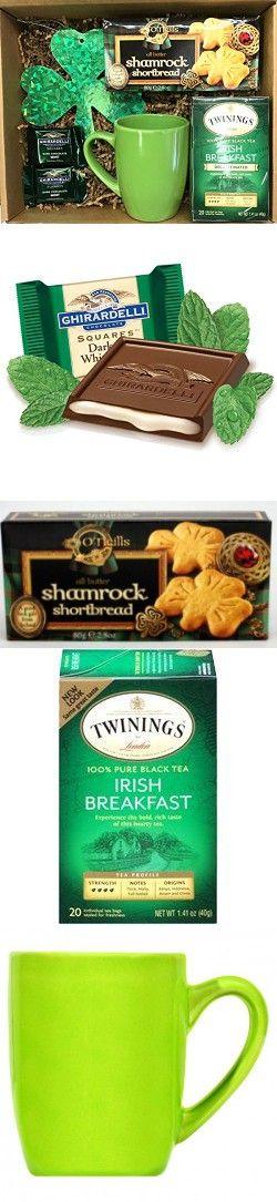 Irish Gifts - St Patrick's Day Gifts - Irish Coffee Gift Sets - Irish Tea Gift Sets - St Patty's Gift Sets (Irish Tea Set)