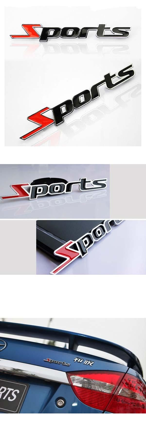 visit to buy sports emblem car motorcycle sticker 3d metal chrome letters decal styling