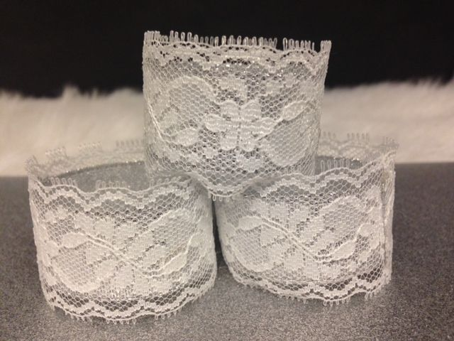 lace & silver sparkle napkin ring