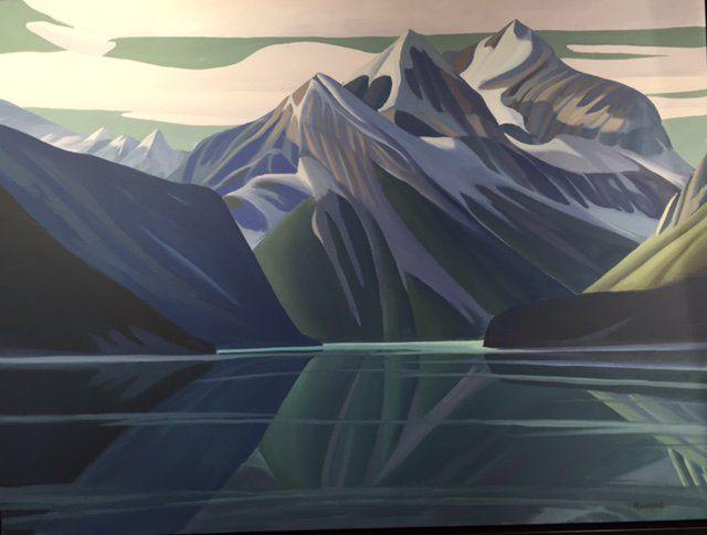 Ken Harrison - Mount Whitehorn 30 x 40 Oil on canvas