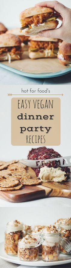 easy vegan dinner party recipes | RECIPES on http://hotforfoodblog.com