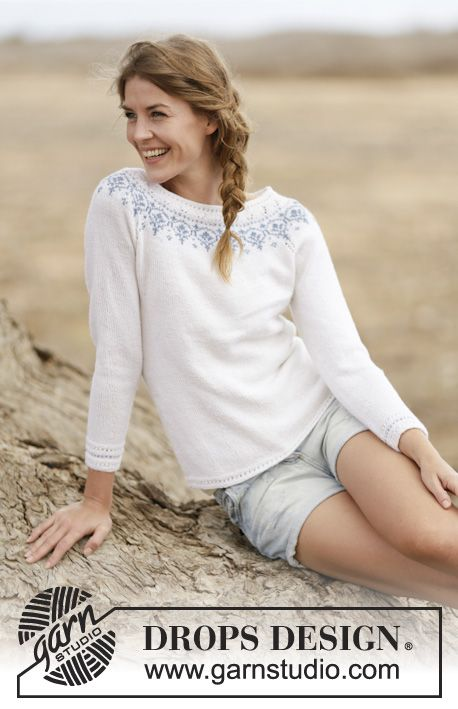 "Knitted DROPS jumper with raglan and round yoke in ""BabyMerino"". Size: S - XXXL."