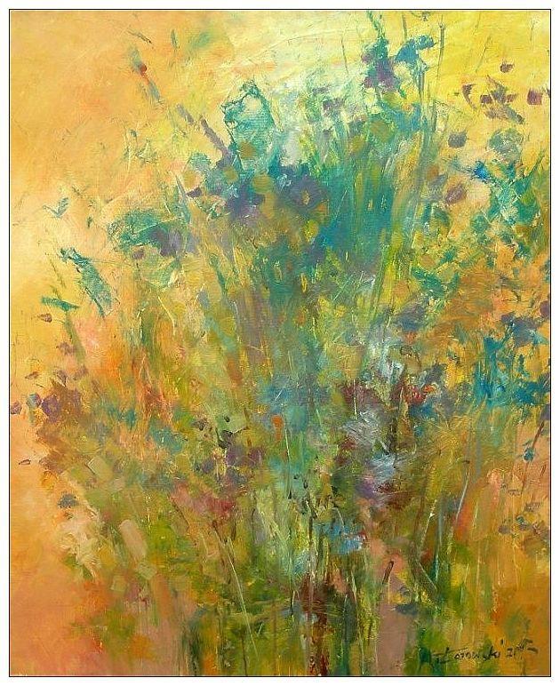 Meadow, 60x50cm, oil on canvas. Krzysztof Lozowski, for sale