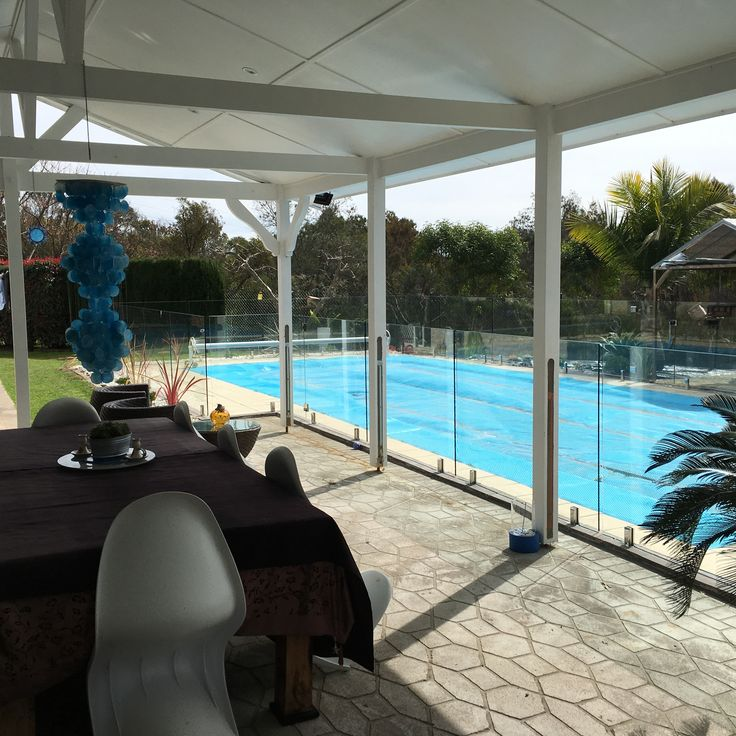 Enjoy the view from your pool. #nouglyfence #glassfencing #framelessglass #poolfencing
