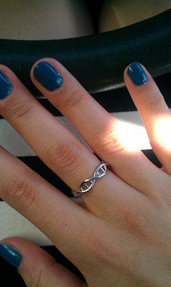 DNA ring by ASHYL on Etsy  I need this to go along with my DNA necklace :D