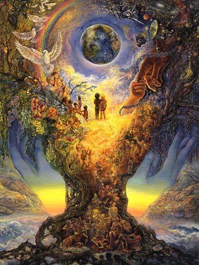 "Josephine Wall ""Millenium Tree"": Mystic, Tattoo Ideas, Spiritual Quotes, Alex Grey, Mothers Earth, Trees Of Life, Josephine Wall, Heavens, Alex O'Loughlin"