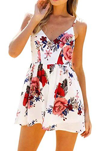 Special Offer: $22.99 amazon.com *Fixmatti Women's 2017 Summer Chiffon Spaghetti Strap Mini Short Skirt Dresses *Material: Chiffon;Floral Printed *Design: 1 pc;Strap;Sleeveless;off shoulder;Backless;Shorts *Feature: Casual;Slim Fitted;Sexy;Young *Strap: Spaghetti...