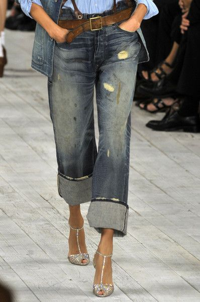 Ralph Lauren~ large cuff, good fit, bravo! Love the sparkly sandal too..add a bit of glamour to casual denim