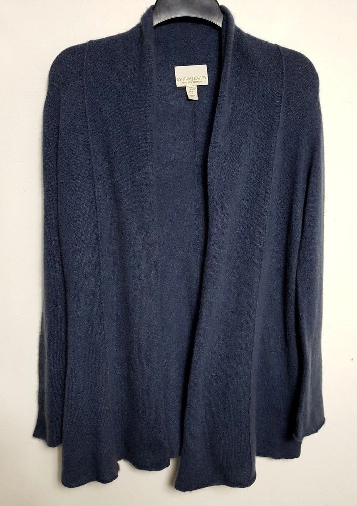 CYNTHIA ROWLEY 2 PLAY 100% CASHMERE WOMENS JUMPER CARDIGAN M