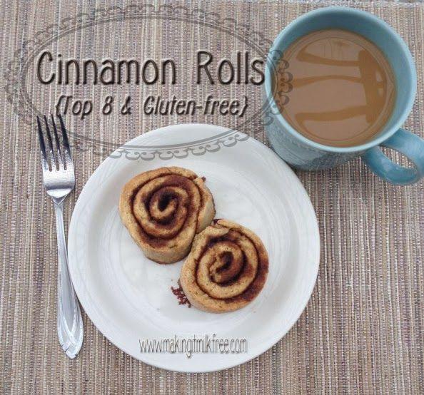 Perfect Gluten-Free & Top 8 Free Cinnamon Rolls | Making it Milk-free ...
