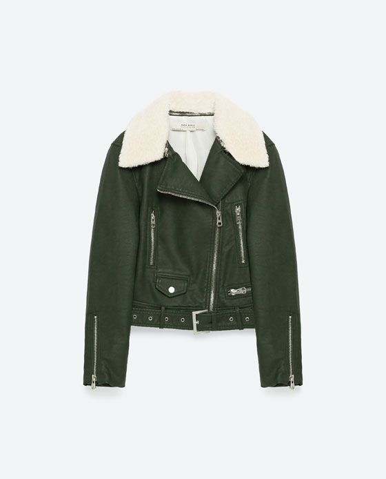 Image 11 of LEATHER EFFECT JACKET from Zara