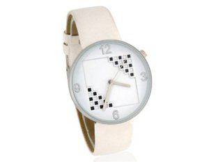 Tanboo Women's Plaid Pattern Analog Watch with PU Leather Strap (White) by Tan Watches. $10.99. Style:Casual. Comfortable to wear. Water resistant desginGender:Women. Plaid pattern on the dialPlaid pattern on the dialComfortable to wearWater resistant desginAble to avoid strong tap water from shower or faucet directly affecting your watch. Display Type:Analog. Plaid pattern on the dialComfortable to wearWater resistant desginAble to avoid strong tap water from shower or faucet di...