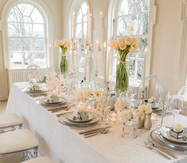 You Ll Be Spoilt For Choice With These 50 Stunning Diy Centrepieces White Wedding Table Decor Table Decorations Simple Wedding Decorations