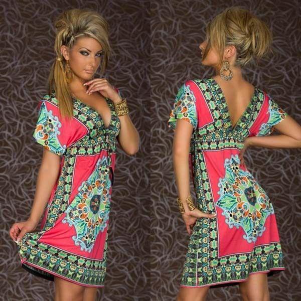 1960s Hippie Fashion Women Dresses #summer