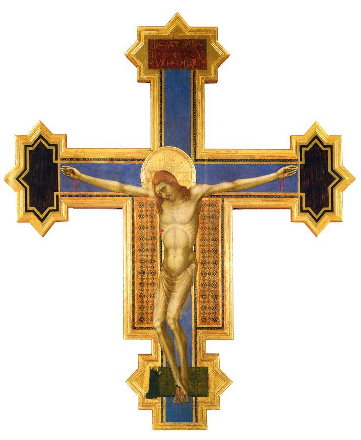 Ugolino di Nerio - Croce dipinta (sec. XIV). Siena, Basilica di Santa Maria dei Servi