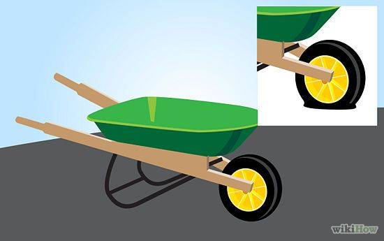 How to Fix a Wheelbarrow Tire (tubeless): 5 Steps (with Pictures)