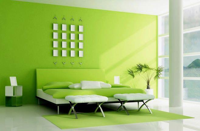 Фото спальни в зеленых тонах