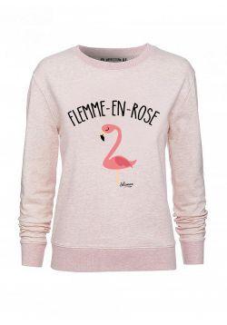 """Sweat """"Flemme en rose"""""""