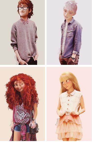 Disney Princesses As Teenagers