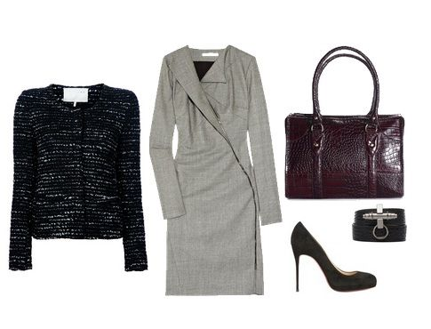stylish corporate work outfit