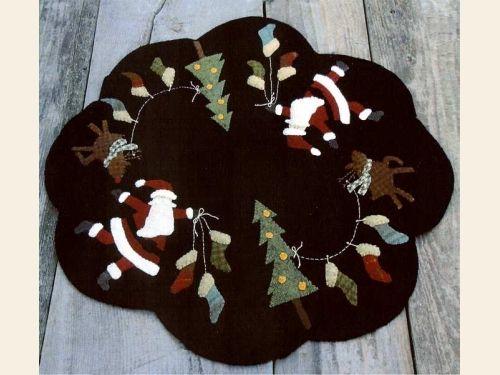 Wool Appliqué :: Wool Appliqué Patterns & Kits :: Rudolph's Stockings Wool Appliqué Pattern - The Merry Hooker Woolens
