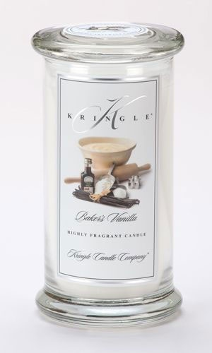 Bakers Vanilla Kringle Candle- Large Apothecary Jar - Balloons Galore & Gifts