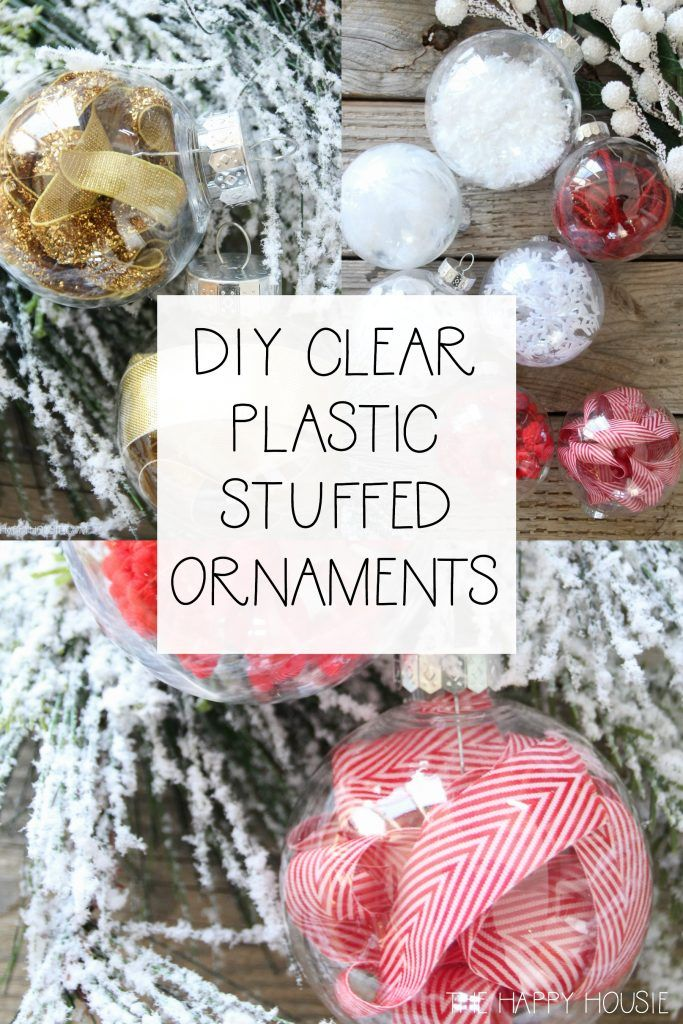 DIY Stuffed Clear Plastic Christmas Ornaments   The Happy Housie - DIY Stuffed Clear Plastic Christmas Ornaments Occupational Therapy